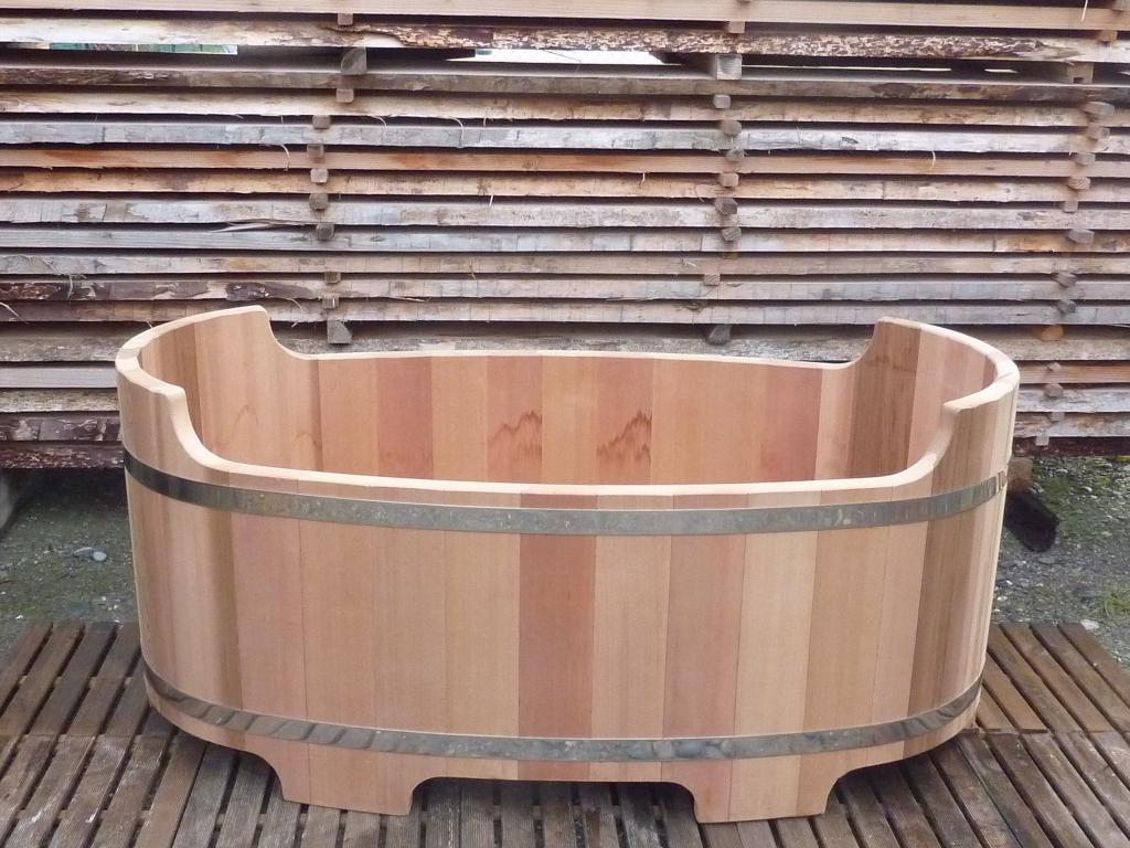 Baignoire bois massif red cedar pour 2 personnes fabriquée ...