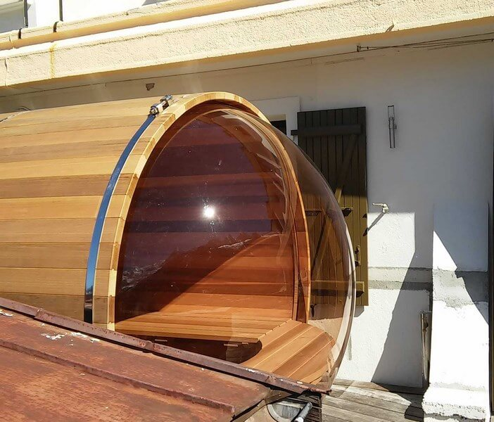 Scenicview sauna with smoked bubble